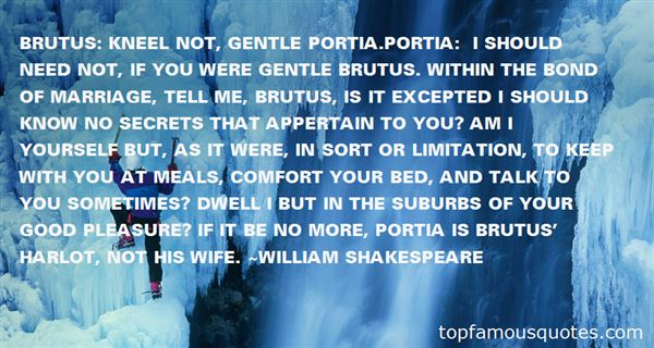 Quotes About Brutus Portia