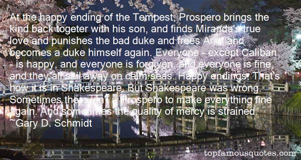 Quotes About Caliban Prospero