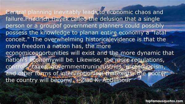 Quotes About Central Planning
