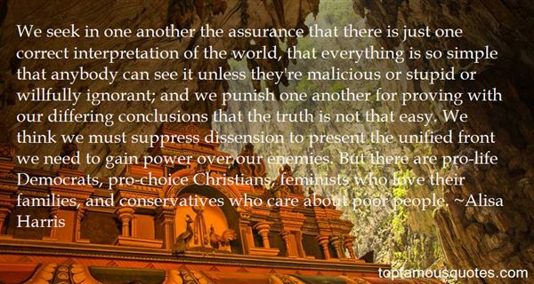 Quotes About Dissension