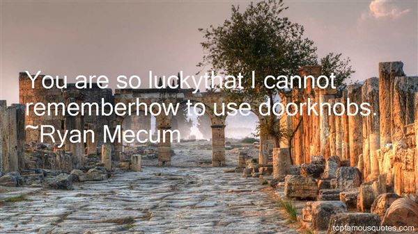Quotes About Doorknobs