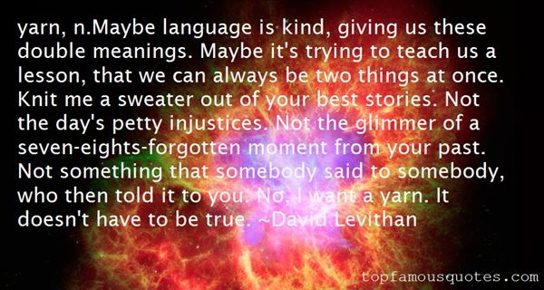 Quotes About Double Meanings