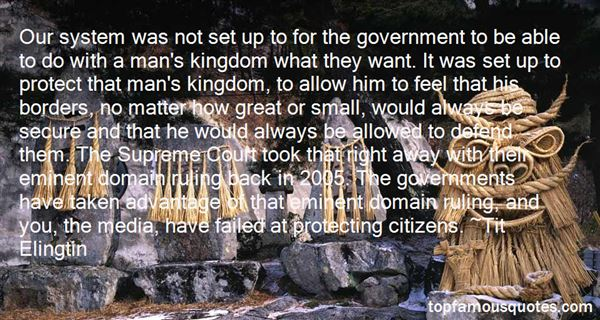 Quotes About Eminent Domain