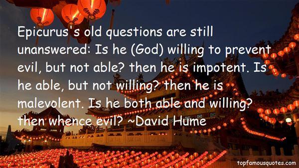 Quotes About Epicurus Evil