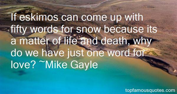 Quotes About Eskimo Death