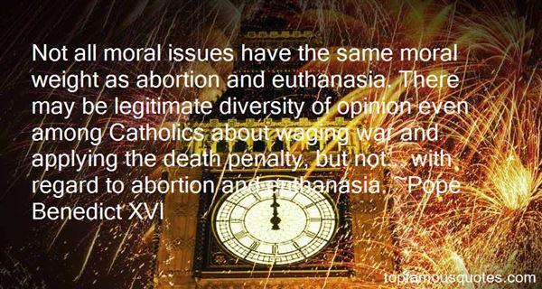 Quotes About Euthanasia Catholic