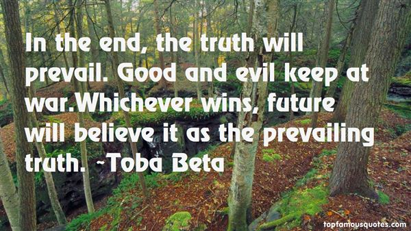 Quotes About Evil Prevailing