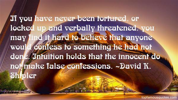 Quotes About False Confessions