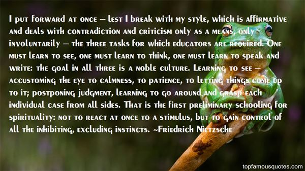 Quotes About First Instincts