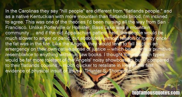 Quotes About Flatlands