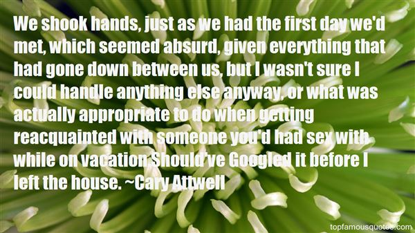 Quotes About Getting Acquainted