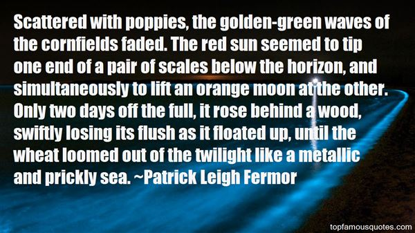Quotes About Golden Fields