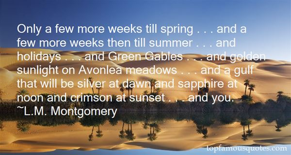 Quotes About Green Gables