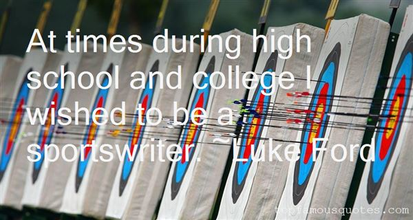 Quotes About High School Sports