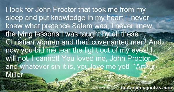 Quotes About John Proctor