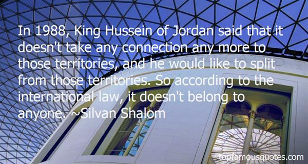 Quotes About King Hussein