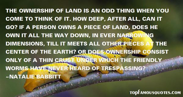 Quotes About Land Ownership