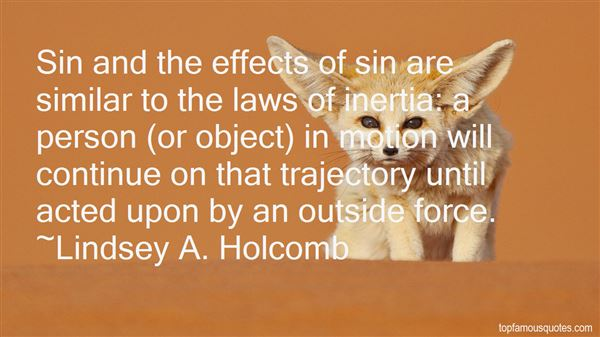 Quotes About Law Of Inertia