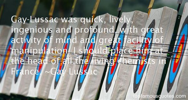 Quotes About Lussac