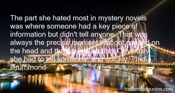 Quotes About Mystery Novels