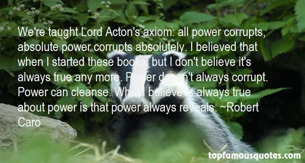 Quotes About Power Corrupts