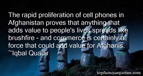 Quotes About Proliferation