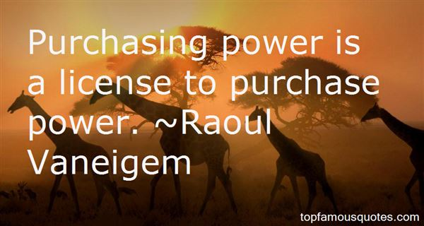 Quotes About Purchasing Power