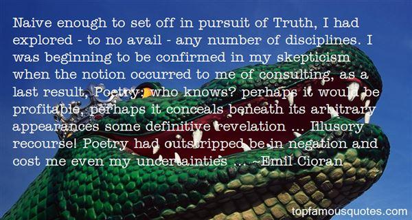 Quotes About Pursuit