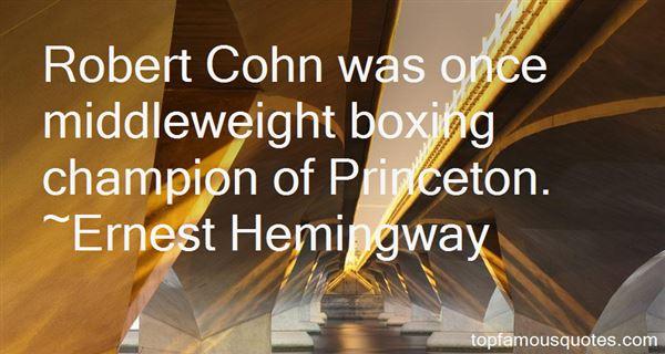 Quotes About Robert Cohn