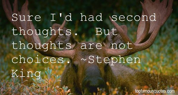 Quotes About Second Choice