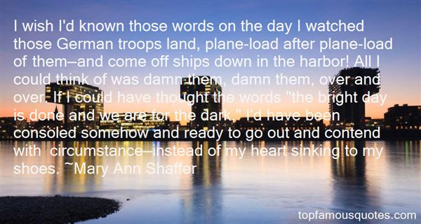 Quotes About Ships Sinking