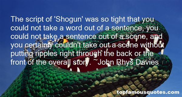 Quotes About Shogun