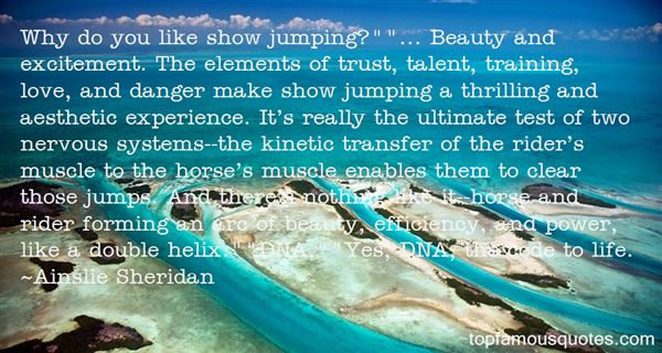 Quotes About Show Jumping