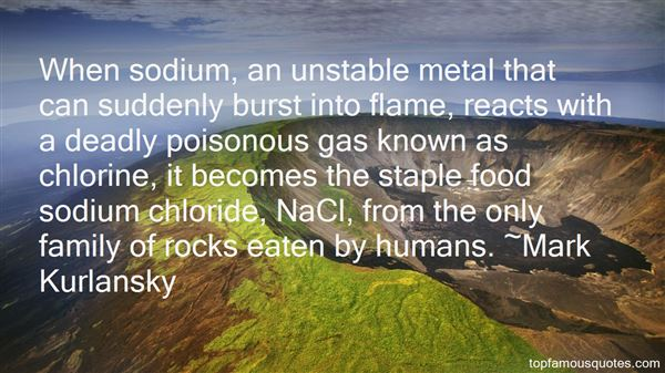 Quotes About Sodium