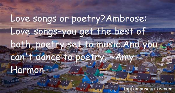 Quotes About Songs And Poetry