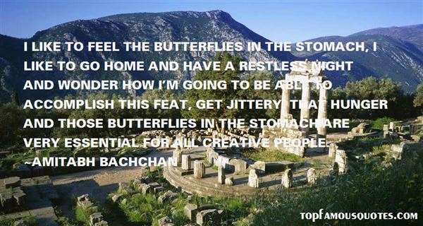 Quotes About Stomach Butterflies