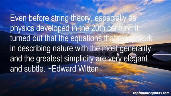 Quotes About String Theory