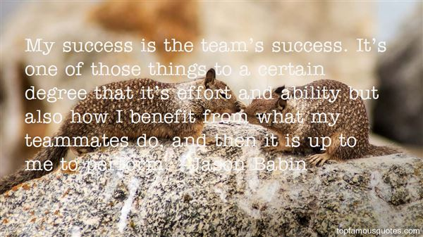 Quotes About Team Success