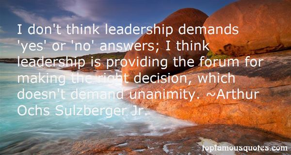 Quotes About Unanimity