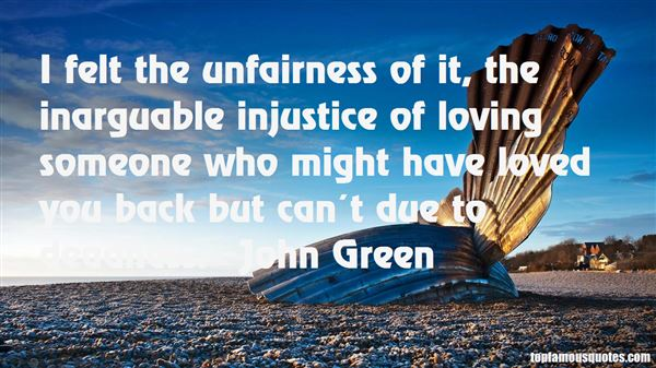Quotes About Unfairness In Love