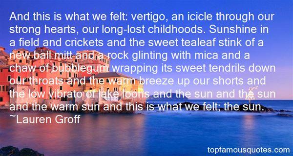 Quotes About Vertigo