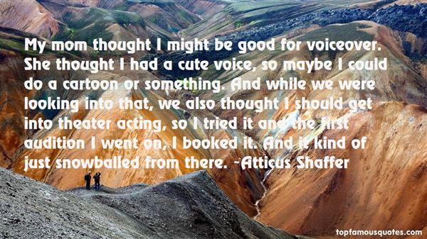 Quotes About Voiceover