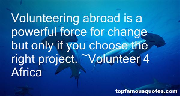 Quotes About Volunteering Abroad
