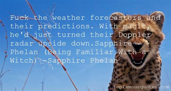 Quotes About Weather Predictions