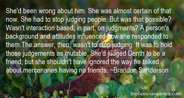 Quotes About Wrong Judgments