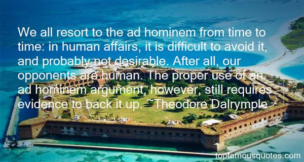 Quotes About Ad Hominem
