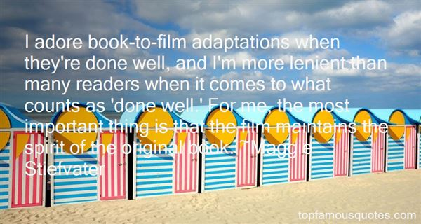 Quotes About Adaptations