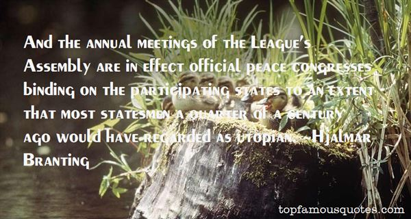 Quotes About Annual Meetings