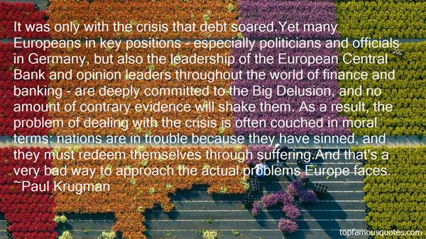 Quotes About Banking Crisis