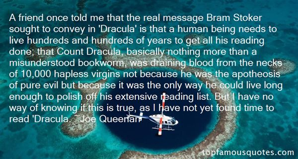 Quotes About Blood Dracula